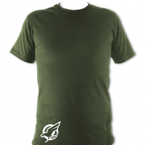 Army Green White T-Shirt